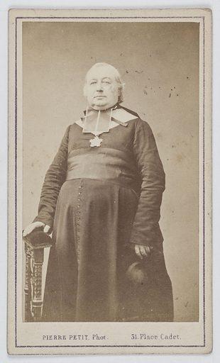Portrait de Monseigneur Surat (1804–1871), prélat et principier de Saint-Denis. Date de création: 1860–1890. Numéro d'object: CARPH056691.